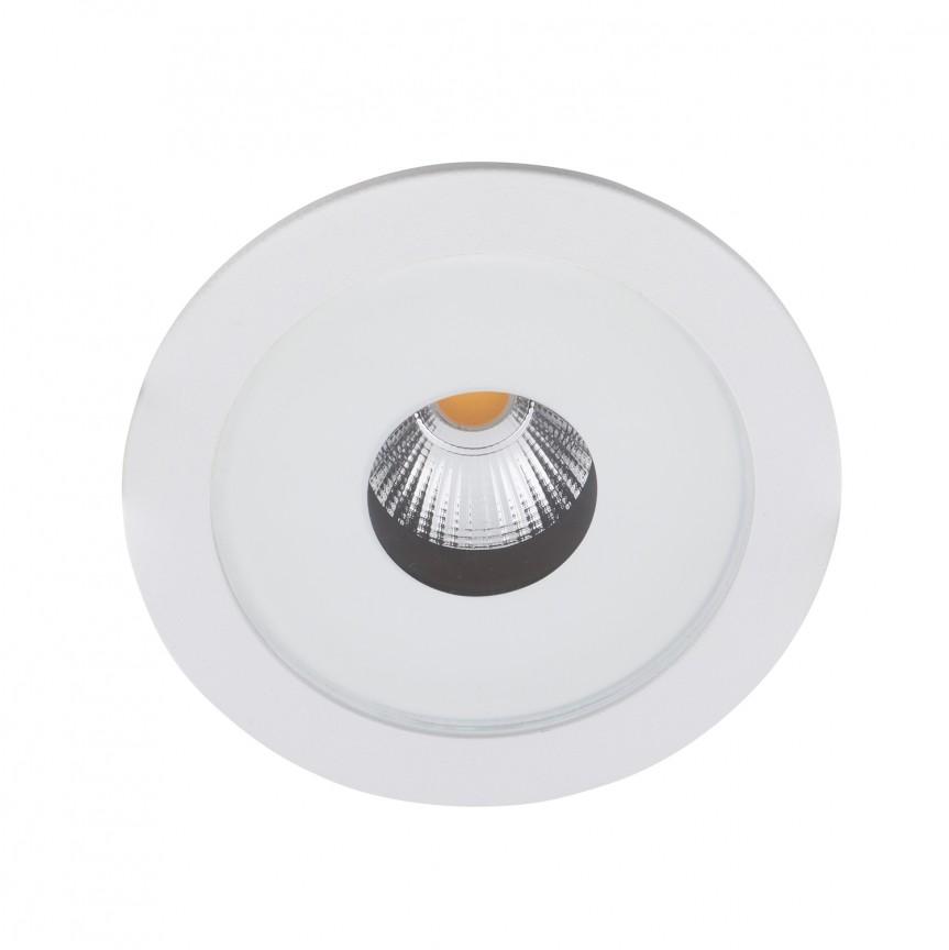 Spot LED incastrat pentru baie design minimalist IP54 PLAZMA alb H0089 MX , Spoturi incastrate - tavan fals / perete, Corpuri de iluminat, lustre, aplice, veioze, lampadare, plafoniere. Mobilier si decoratiuni, oglinzi, scaune, fotolii. Oferte speciale iluminat interior si exterior. Livram in toata tara.  a