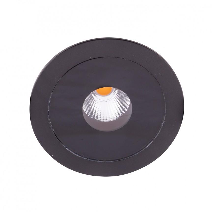 Spot LED incastrat pentru baie design minimalist IP54 PLAZMA negru H0088 MX , Spoturi incastrate - tavan fals / perete, Corpuri de iluminat, lustre, aplice, veioze, lampadare, plafoniere. Mobilier si decoratiuni, oglinzi, scaune, fotolii. Oferte speciale iluminat interior si exterior. Livram in toata tara.  a