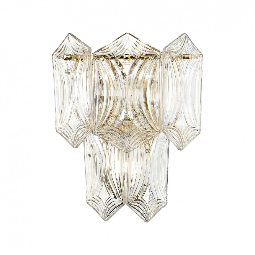 Aplica eleganta design deosebit CORATO, auriu W0475-02A-F7AC ZL, Aplice de perete clasice, Corpuri de iluminat, lustre, aplice, veioze, lampadare, plafoniere. Mobilier si decoratiuni, oglinzi, scaune, fotolii. Oferte speciale iluminat interior si exterior. Livram in toata tara.  a