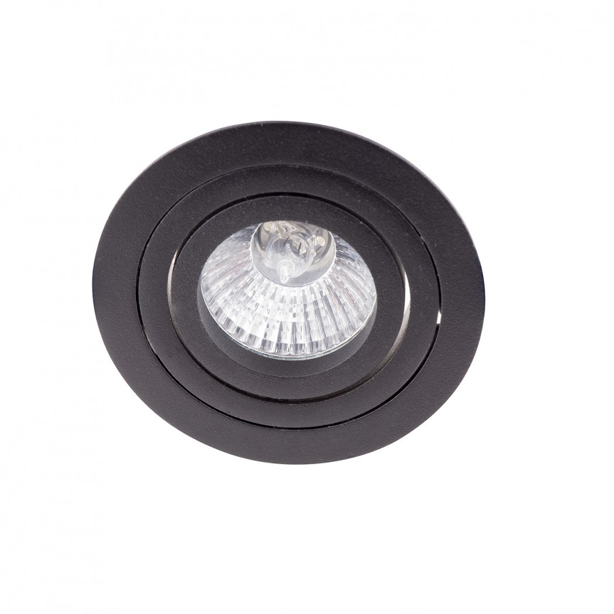 Spot directionabil incastrabil Signal I negru H0086 MX, Spoturi incastrate - tavan fals / perete, Corpuri de iluminat, lustre, aplice, veioze, lampadare, plafoniere. Mobilier si decoratiuni, oglinzi, scaune, fotolii. Oferte speciale iluminat interior si exterior. Livram in toata tara.  a