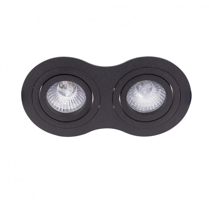 Spot directionabil incastrabil Signal II negru H0087 MX, Spoturi incastrate - tavan fals / perete, Corpuri de iluminat, lustre, aplice, veioze, lampadare, plafoniere. Mobilier si decoratiuni, oglinzi, scaune, fotolii. Oferte speciale iluminat interior si exterior. Livram in toata tara.  a