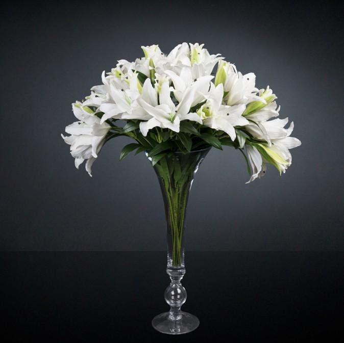 Aranjament floral mare ETERNITY CLASSIC LILIUM, H-110cm, Aranjamente florale LUX, Corpuri de iluminat, lustre, aplice, veioze, lampadare, plafoniere. Mobilier si decoratiuni, oglinzi, scaune, fotolii. Oferte speciale iluminat interior si exterior. Livram in toata tara.  a