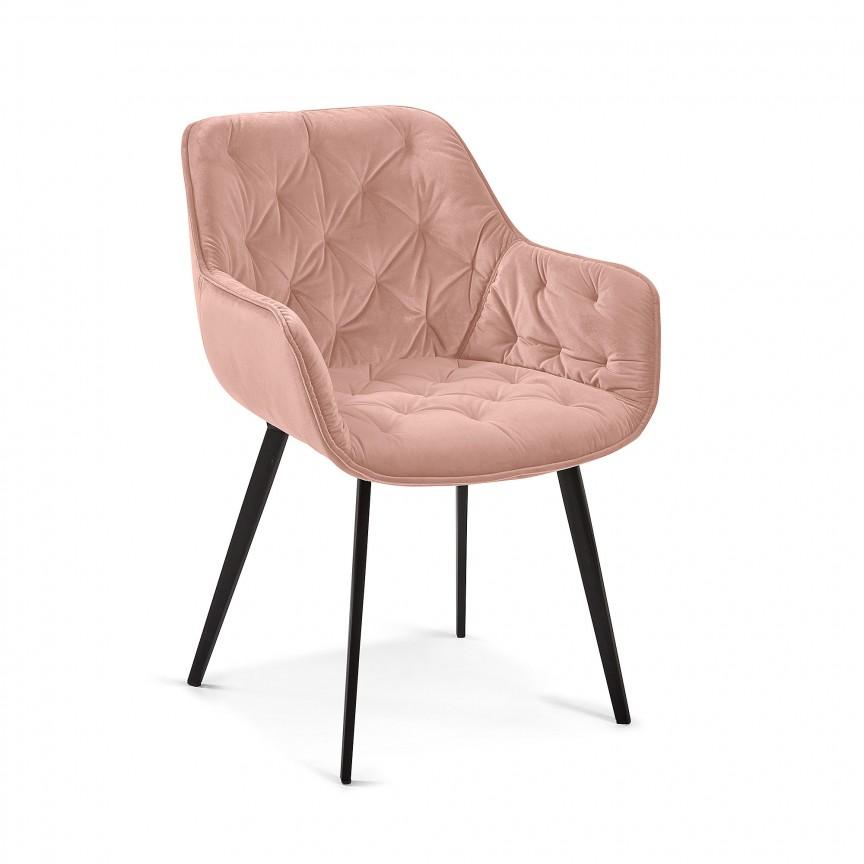 Scaun cu brate design modern Mulder, catifea roz CC1225JU24 JG, Scaune dining , Corpuri de iluminat, lustre, aplice, veioze, lampadare, plafoniere. Mobilier si decoratiuni, oglinzi, scaune, fotolii. Oferte speciale iluminat interior si exterior. Livram in toata tara.  a