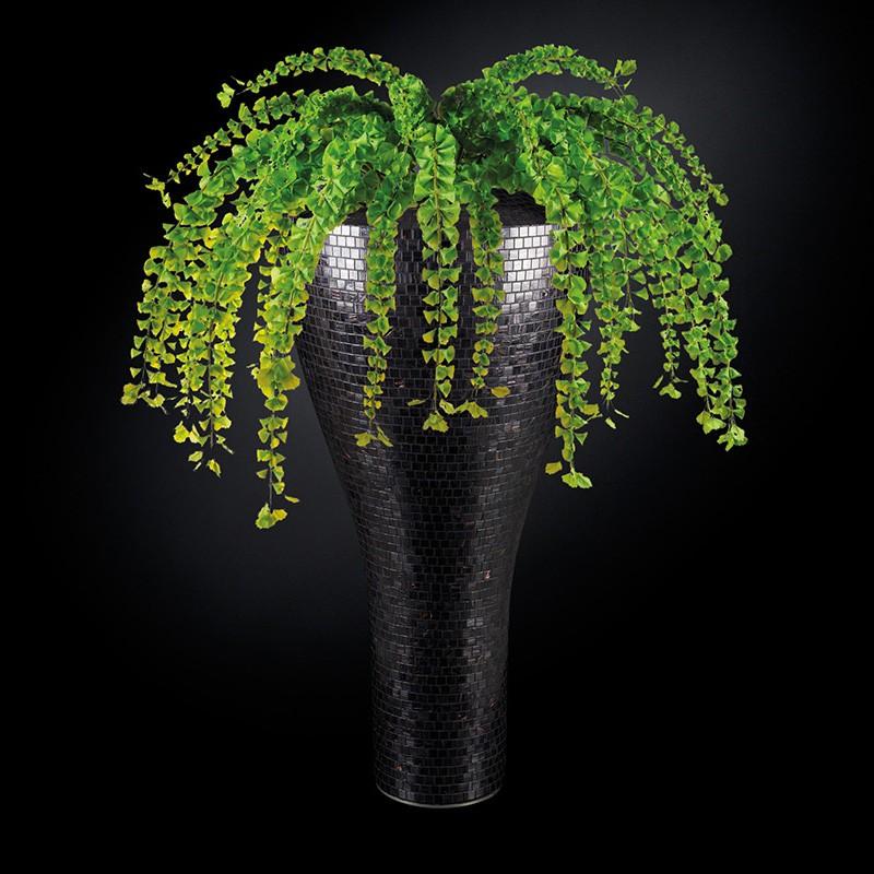 Aranjament floral mare TORONTO MOSAICO BISAZZA, negru 160cm, Aranjamente florale LUX, Corpuri de iluminat, lustre, aplice, veioze, lampadare, plafoniere. Mobilier si decoratiuni, oglinzi, scaune, fotolii. Oferte speciale iluminat interior si exterior. Livram in toata tara.  a