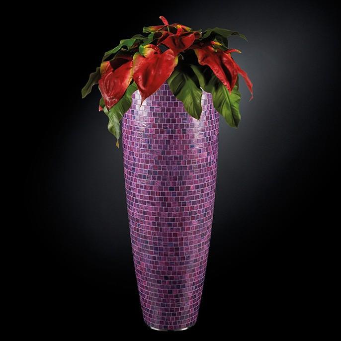 Aranjament floral mare MIAMI MOSAICO BISAZZA, violet 135cm, Aranjamente florale LUX, Corpuri de iluminat, lustre, aplice, veioze, lampadare, plafoniere. Mobilier si decoratiuni, oglinzi, scaune, fotolii. Oferte speciale iluminat interior si exterior. Livram in toata tara.  a