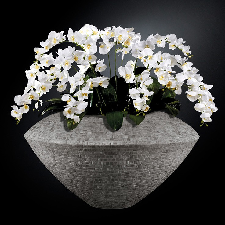 Aranjament floral mare VENEZIA MOSAICO BISAZZA, gri, Aranjamente florale LUX, Corpuri de iluminat, lustre, aplice, veioze, lampadare, plafoniere. Mobilier si decoratiuni, oglinzi, scaune, fotolii. Oferte speciale iluminat interior si exterior. Livram in toata tara.  a