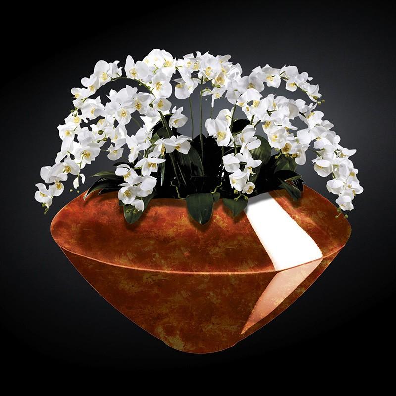 Aranjament floral mare VENEZIA RADICA, maro, Aranjamente florale LUX, Corpuri de iluminat, lustre, aplice, veioze, lampadare, plafoniere. Mobilier si decoratiuni, oglinzi, scaune, fotolii. Oferte speciale iluminat interior si exterior. Livram in toata tara.  a