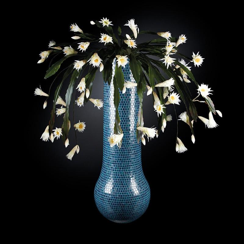 Aranjament floral mare DUBAI MOSAICO BISAZZA, albastru deschis 205cm, Aranjamente florale LUX, Corpuri de iluminat, lustre, aplice, veioze, lampadare, plafoniere. Mobilier si decoratiuni, oglinzi, scaune, fotolii. Oferte speciale iluminat interior si exterior. Livram in toata tara.  a