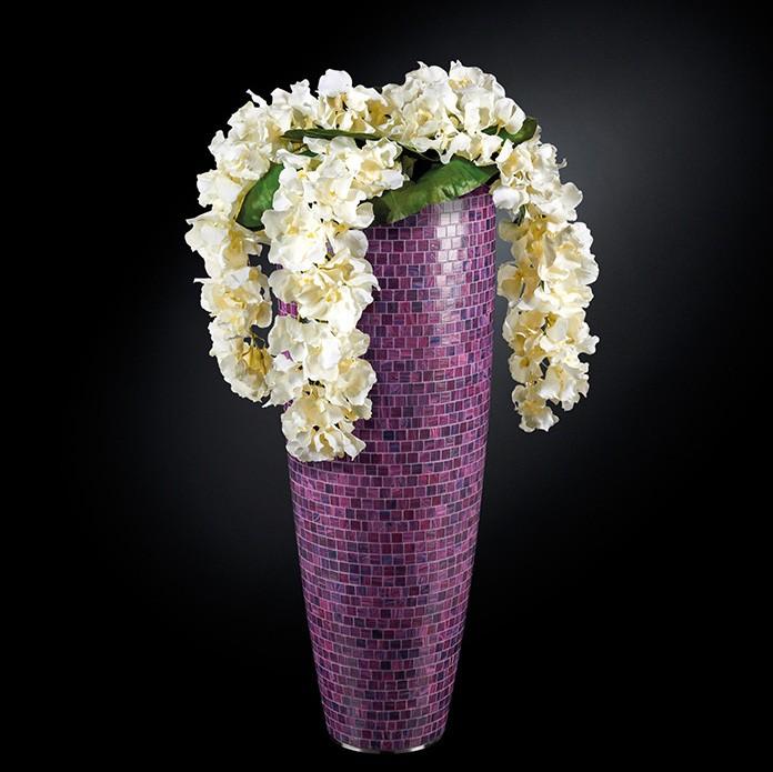 Aranjament floral mare OSLO MOSAICO BISAZZA, violet 130cm, Aranjamente florale LUX, Corpuri de iluminat, lustre, aplice, veioze, lampadare, plafoniere. Mobilier si decoratiuni, oglinzi, scaune, fotolii. Oferte speciale iluminat interior si exterior. Livram in toata tara.  a