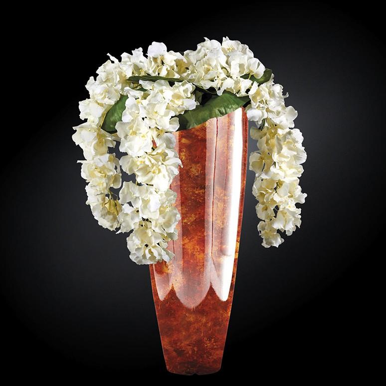 Aranjament floral mare OSLO RADICA, maro 130cm, Aranjamente florale LUX, Corpuri de iluminat, lustre, aplice, veioze, lampadare, plafoniere. Mobilier si decoratiuni, oglinzi, scaune, fotolii. Oferte speciale iluminat interior si exterior. Livram in toata tara.  a