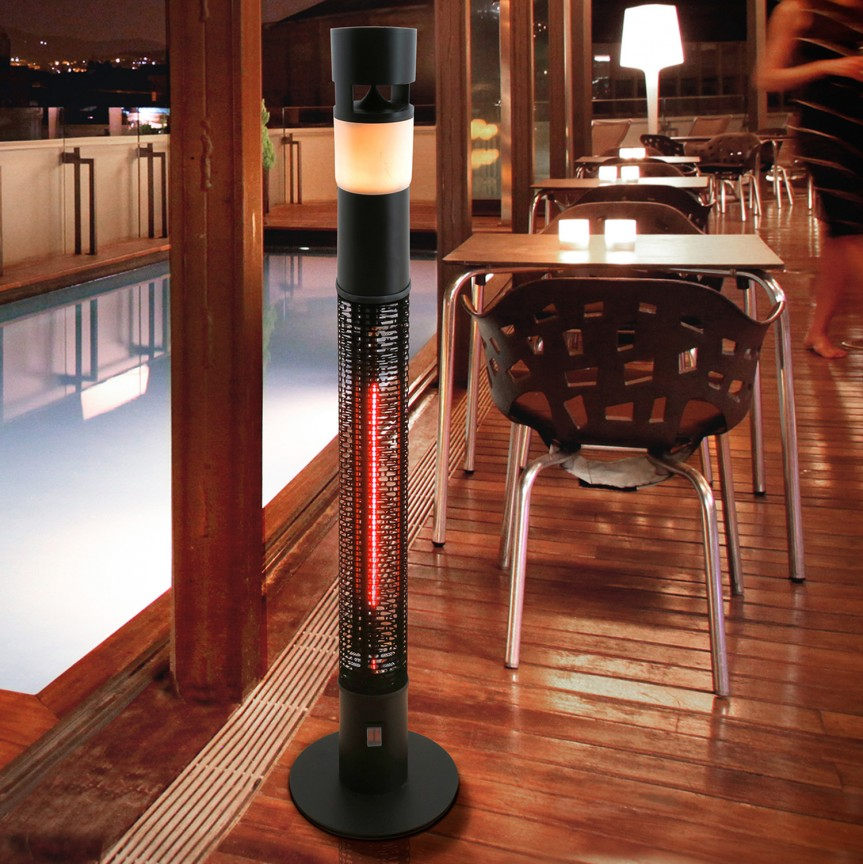 Încalzitor electric de exterior IP55 cu iluminat LED RGB Heat Sound SV-748719, Iluminat design decorativ , Corpuri de iluminat, lustre, aplice, veioze, lampadare, plafoniere. Mobilier si decoratiuni, oglinzi, scaune, fotolii. Oferte speciale iluminat interior si exterior. Livram in toata tara.  a