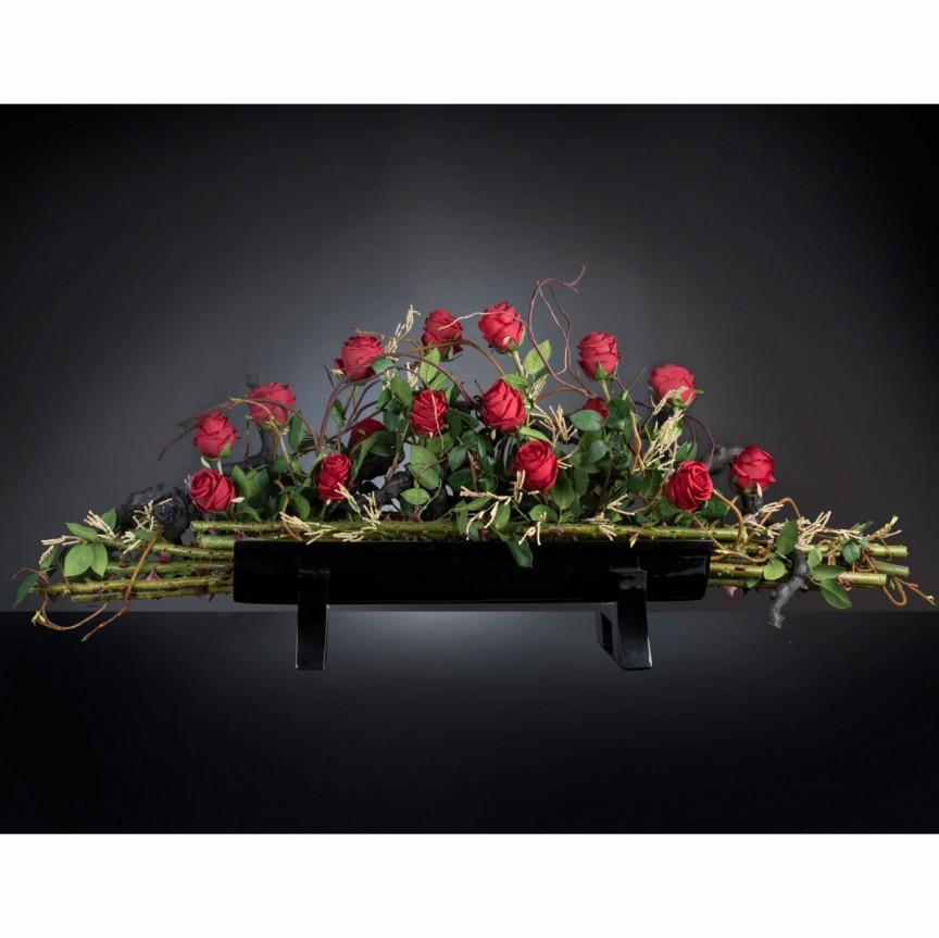Aranjament floral elegant, design LUX GONDOLA ROSE, Aranjamente florale LUX, Corpuri de iluminat, lustre, aplice, veioze, lampadare, plafoniere. Mobilier si decoratiuni, oglinzi, scaune, fotolii. Oferte speciale iluminat interior si exterior. Livram in toata tara.  a