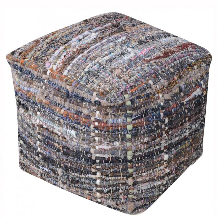 Taburete Arron bumbac reciclat kaki, Tabureti - Banci, Corpuri de iluminat, lustre, aplice, veioze, lampadare, plafoniere. Mobilier si decoratiuni, oglinzi, scaune, fotolii. Oferte speciale iluminat interior si exterior. Livram in toata tara.  a