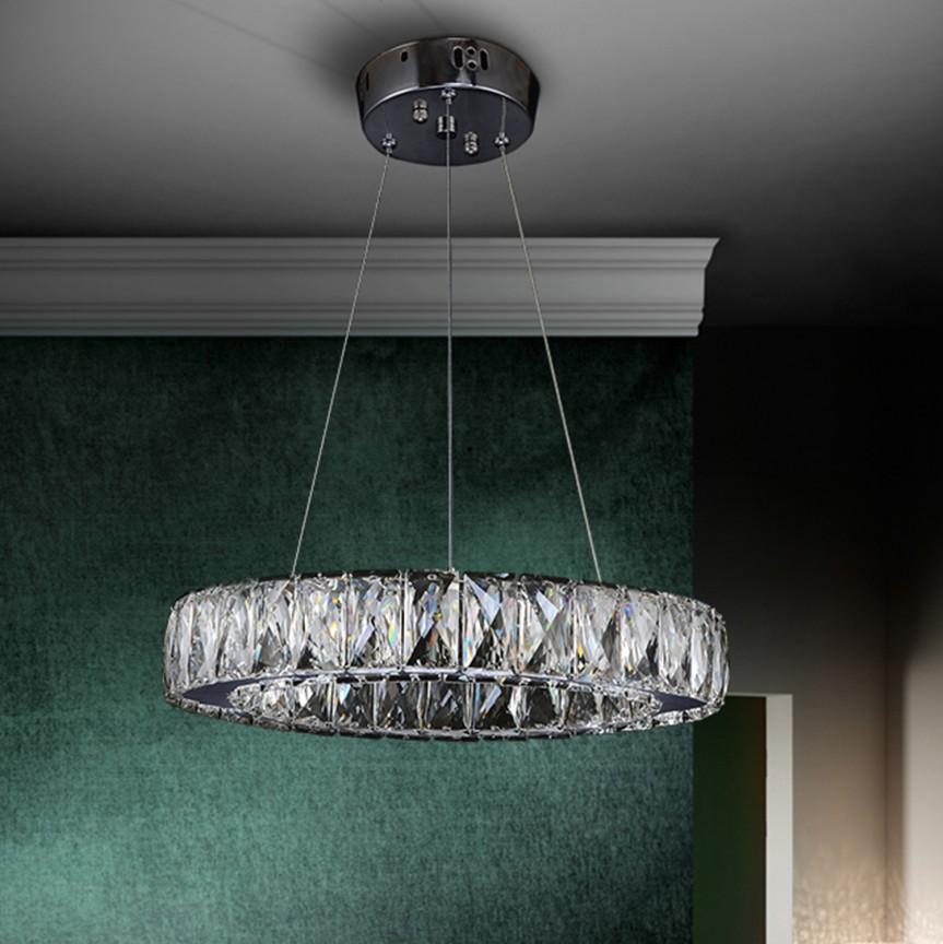 Lustra LED cristal design elegant Ø34cm DIVA SV-854275, Lustre LED, Pendule LED, Corpuri de iluminat, lustre, aplice, veioze, lampadare, plafoniere. Mobilier si decoratiuni, oglinzi, scaune, fotolii. Oferte speciale iluminat interior si exterior. Livram in toata tara.  a
