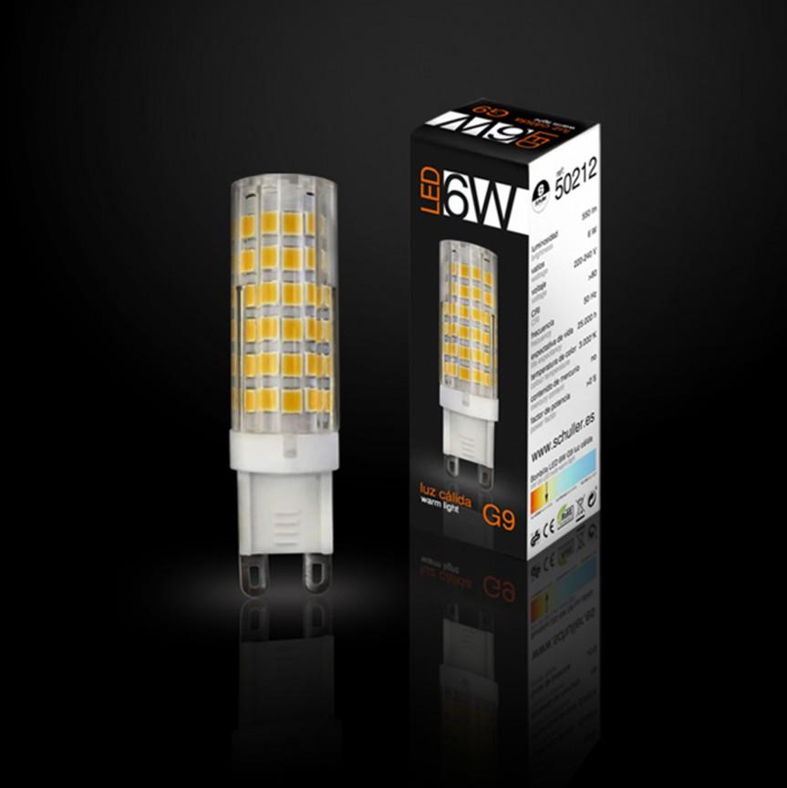 Bec LED G9, 6W 3000K lumina calda SV-50212, Becuri G9, G4, R7s, Corpuri de iluminat, lustre, aplice, veioze, lampadare, plafoniere. Mobilier si decoratiuni, oglinzi, scaune, fotolii. Oferte speciale iluminat interior si exterior. Livram in toata tara.  a