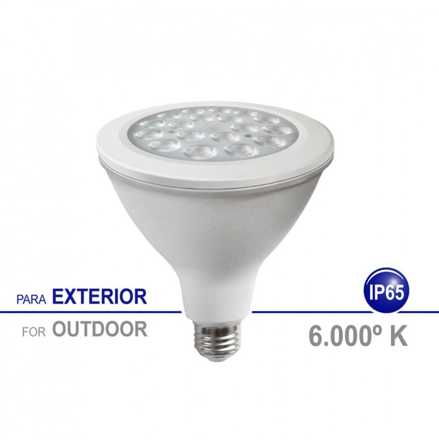 Bec LED E27 pentru exterior IP65, 18W 6000K lumina rece SPOT LIGHT PAR, Becuri E27, Corpuri de iluminat, lustre, aplice, veioze, lampadare, plafoniere. Mobilier si decoratiuni, oglinzi, scaune, fotolii. Oferte speciale iluminat interior si exterior. Livram in toata tara.  a