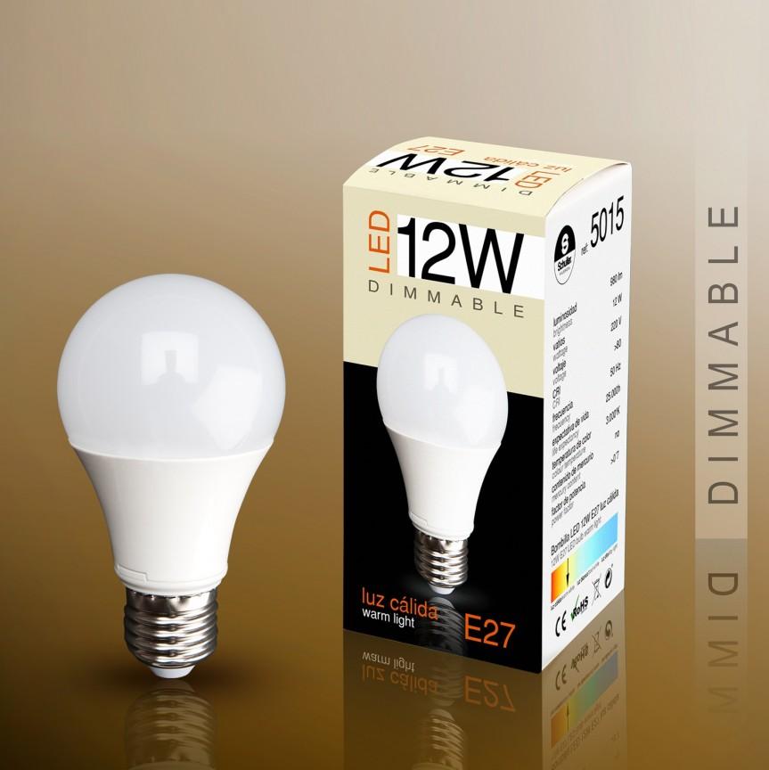 Bec LED E27 DIMABIL, 12W 3000K lumina calda Globe opal SV-5015, Becuri E27, Corpuri de iluminat, lustre, aplice, veioze, lampadare, plafoniere. Mobilier si decoratiuni, oglinzi, scaune, fotolii. Oferte speciale iluminat interior si exterior. Livram in toata tara.  a