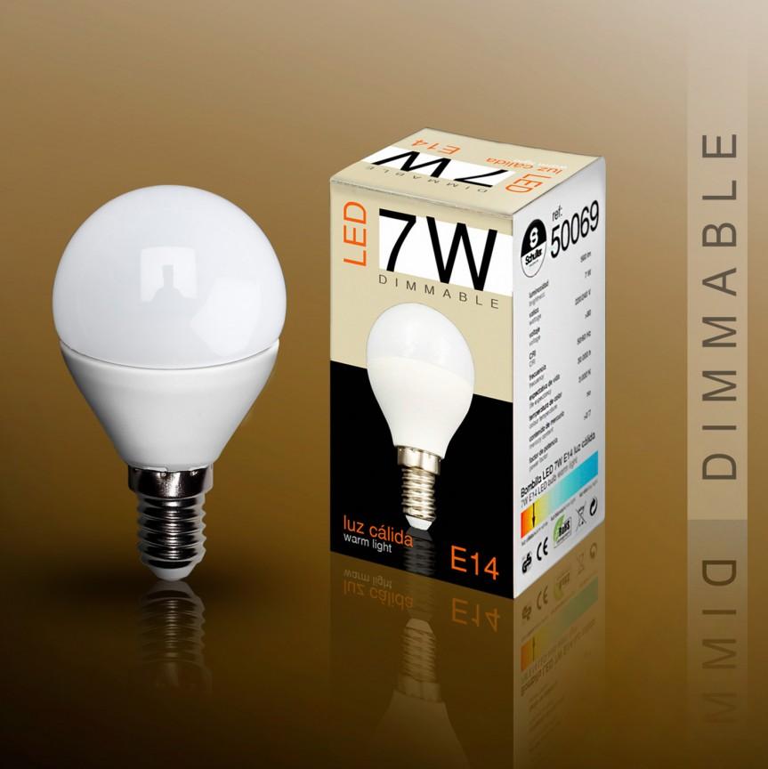 Bec LED E14 DIMABIL, 7W 3000K lumina calda Globe mini opal SV-50069, Becuri E14, Corpuri de iluminat, lustre, aplice, veioze, lampadare, plafoniere. Mobilier si decoratiuni, oglinzi, scaune, fotolii. Oferte speciale iluminat interior si exterior. Livram in toata tara.  a