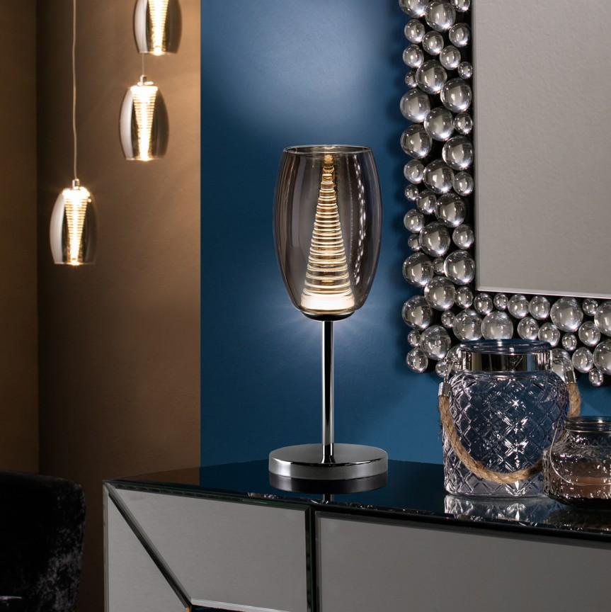 Veioza LED / Lampa de masa design modern Nebula SV-493826, Veioze LED, Lampadare LED, Corpuri de iluminat, lustre, aplice, veioze, lampadare, plafoniere. Mobilier si decoratiuni, oglinzi, scaune, fotolii. Oferte speciale iluminat interior si exterior. Livram in toata tara.  a