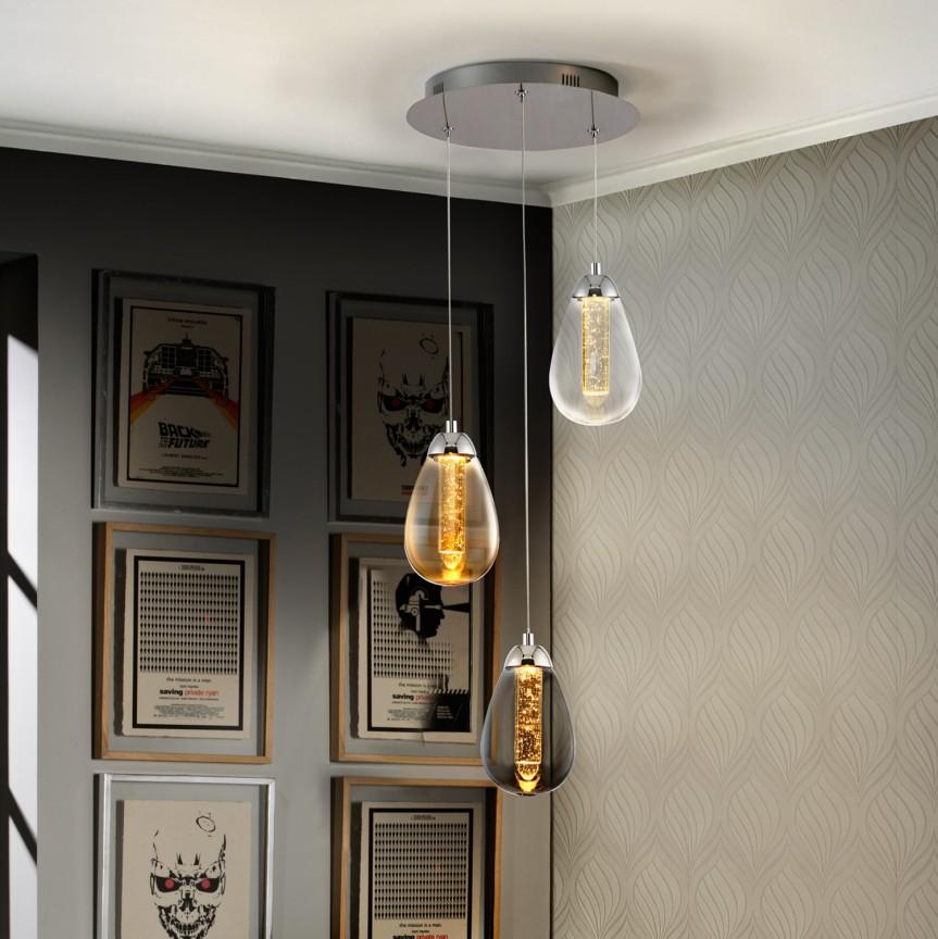 Lustra LED design modern ø32cm Taccia 3L SV-394782, Lustre LED, Pendule LED, Corpuri de iluminat, lustre, aplice, veioze, lampadare, plafoniere. Mobilier si decoratiuni, oglinzi, scaune, fotolii. Oferte speciale iluminat interior si exterior. Livram in toata tara.  a