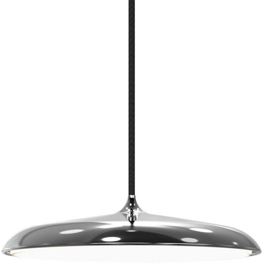 Lustra, Pendul design modern, diam.25cm, finisaj argintiu, LED Artist 25 83083054 DFTP, Lustre LED, Pendule LED, Corpuri de iluminat, lustre, aplice, veioze, lampadare, plafoniere. Mobilier si decoratiuni, oglinzi, scaune, fotolii. Oferte speciale iluminat interior si exterior. Livram in toata tara.  a