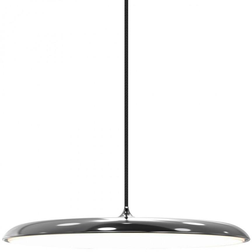 Lustra, Pendul design modern, diam.40cm, finisaj argintiu, LED Artist 40 83093054 DFTP, Lustre LED, Pendule LED, Corpuri de iluminat, lustre, aplice, veioze, lampadare, plafoniere. Mobilier si decoratiuni, oglinzi, scaune, fotolii. Oferte speciale iluminat interior si exterior. Livram in toata tara.  a