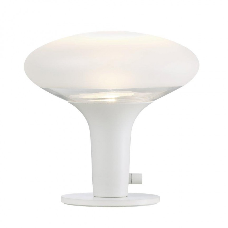 Veioza moderna Dee 2.0, white/ frosted glass 84435001 DFTP, Veioze, Lampi de masa, Corpuri de iluminat, lustre, aplice, veioze, lampadare, plafoniere. Mobilier si decoratiuni, oglinzi, scaune, fotolii. Oferte speciale iluminat interior si exterior. Livram in toata tara.  a