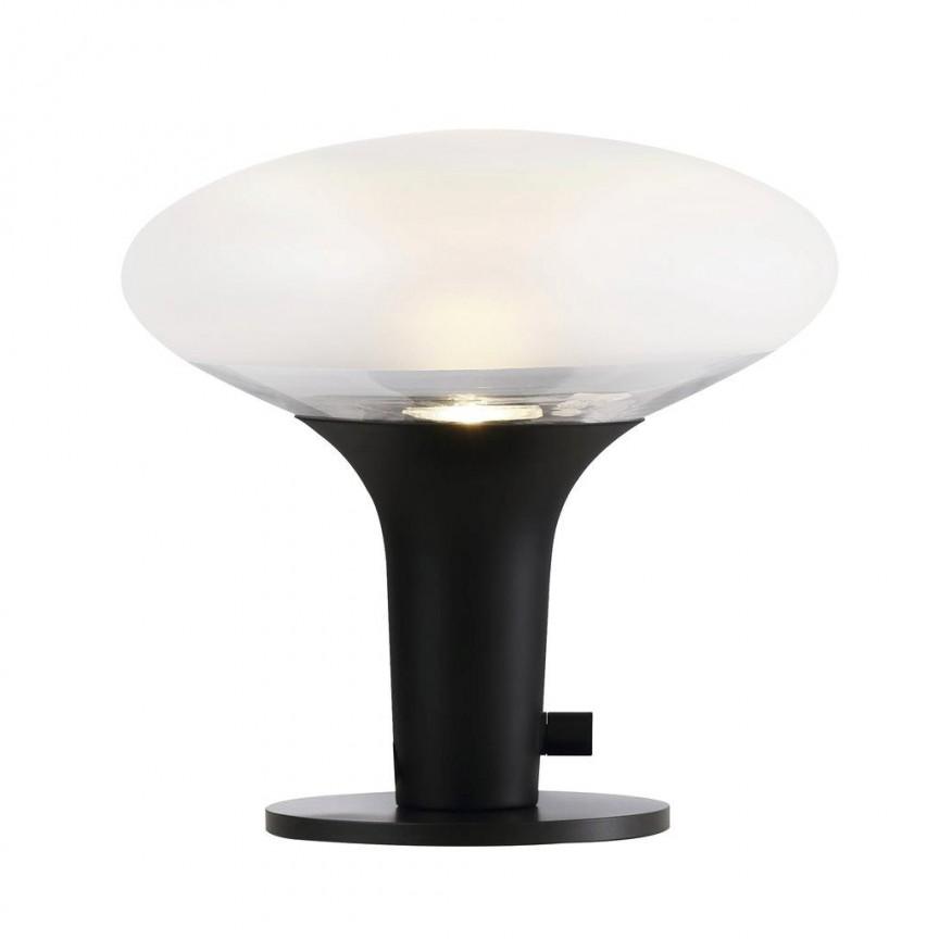 Veioza moderna Dee 2.0, black/ frosted glass 84435003 DFTP, Veioze de Birou moderne, Corpuri de iluminat, lustre, aplice, veioze, lampadare, plafoniere. Mobilier si decoratiuni, oglinzi, scaune, fotolii. Oferte speciale iluminat interior si exterior. Livram in toata tara.  a