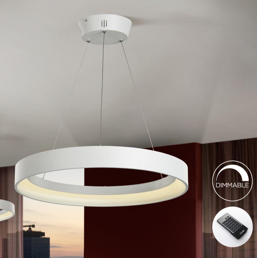 Lustra LED dimabila cu telecomanda CRONOS SV-152461D, Lampi LED si Telecomanda, Corpuri de iluminat, lustre, aplice, veioze, lampadare, plafoniere. Mobilier si decoratiuni, oglinzi, scaune, fotolii. Oferte speciale iluminat interior si exterior. Livram in toata tara.  a