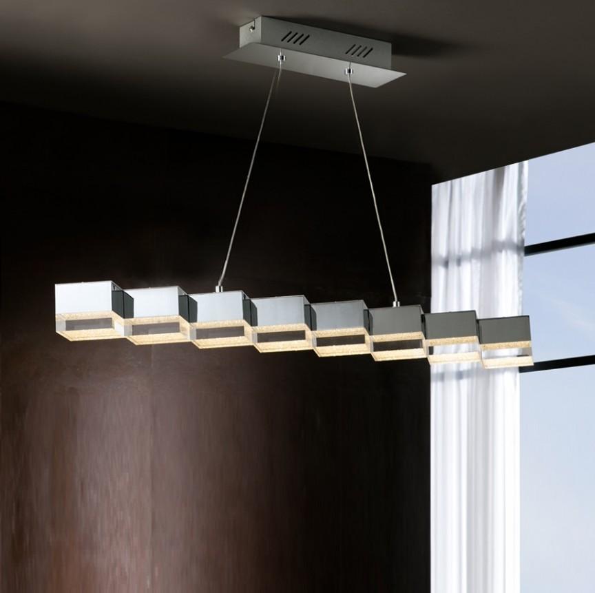 Lustra LED suspendata design modern Prisma 8L SV-475340, Lustre LED, Pendule LED, Corpuri de iluminat, lustre, aplice, veioze, lampadare, plafoniere. Mobilier si decoratiuni, oglinzi, scaune, fotolii. Oferte speciale iluminat interior si exterior. Livram in toata tara.  a