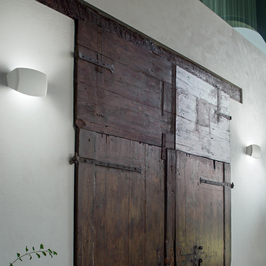 Aplica de exterior IP55, ABRAM AP1 SMALL BIANCO 221892, ILUMINAT EXTERIOR, Corpuri de iluminat, lustre, aplice, veioze, lampadare, plafoniere. Mobilier si decoratiuni, oglinzi, scaune, fotolii. Oferte speciale iluminat interior si exterior. Livram in toata tara.  a