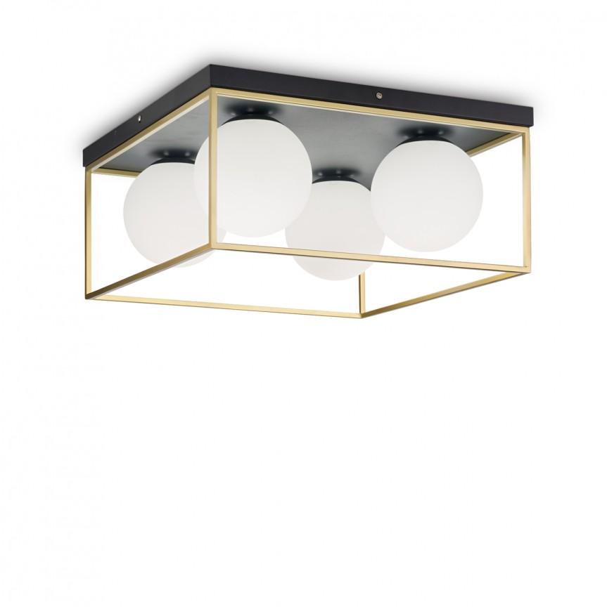 Plafoniera design modern Lingotto PL4 198156, Lustre moderne aplicate, Corpuri de iluminat, lustre, aplice, veioze, lampadare, plafoniere. Mobilier si decoratiuni, oglinzi, scaune, fotolii. Oferte speciale iluminat interior si exterior. Livram in toata tara.  a