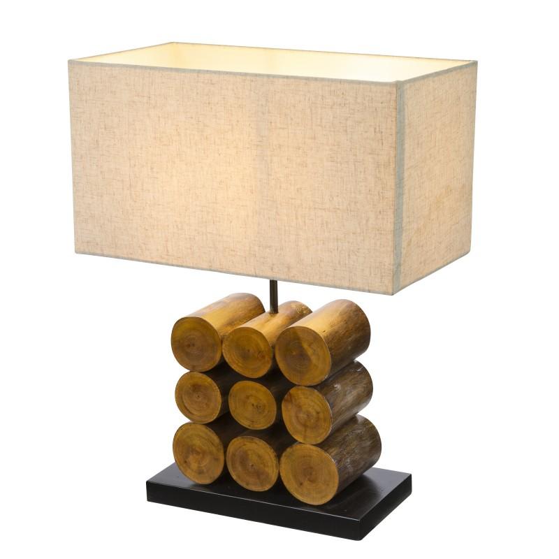 Veioza / Lampa de masa rustica design natural ARIZONA 21659 GL, Veioze, Corpuri de iluminat, lustre, aplice, veioze, lampadare, plafoniere. Mobilier si decoratiuni, oglinzi, scaune, fotolii. Oferte speciale iluminat interior si exterior. Livram in toata tara.  a