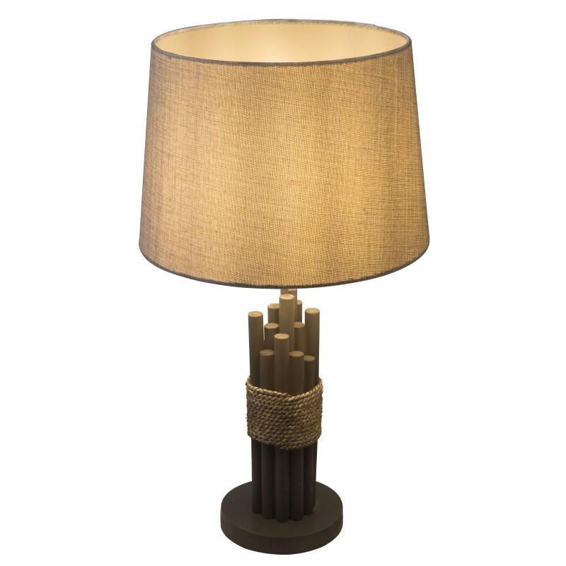 Veioza / Lampa de masa design natural H-59cm LIVIA 15255T1 GL, Veioze, Corpuri de iluminat, lustre, aplice, veioze, lampadare, plafoniere. Mobilier si decoratiuni, oglinzi, scaune, fotolii. Oferte speciale iluminat interior si exterior. Livram in toata tara.  a