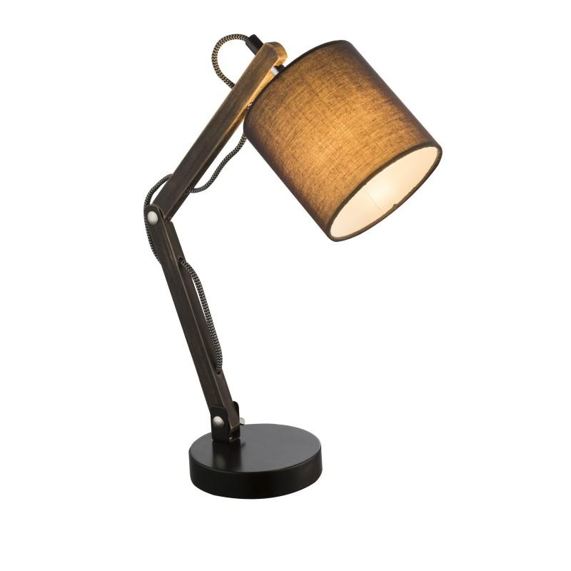 Veioza cu brat din lemn articulat MATTIS 21512 GL, Veioze, Lampi de masa, Corpuri de iluminat, lustre, aplice, veioze, lampadare, plafoniere. Mobilier si decoratiuni, oglinzi, scaune, fotolii. Oferte speciale iluminat interior si exterior. Livram in toata tara.  a