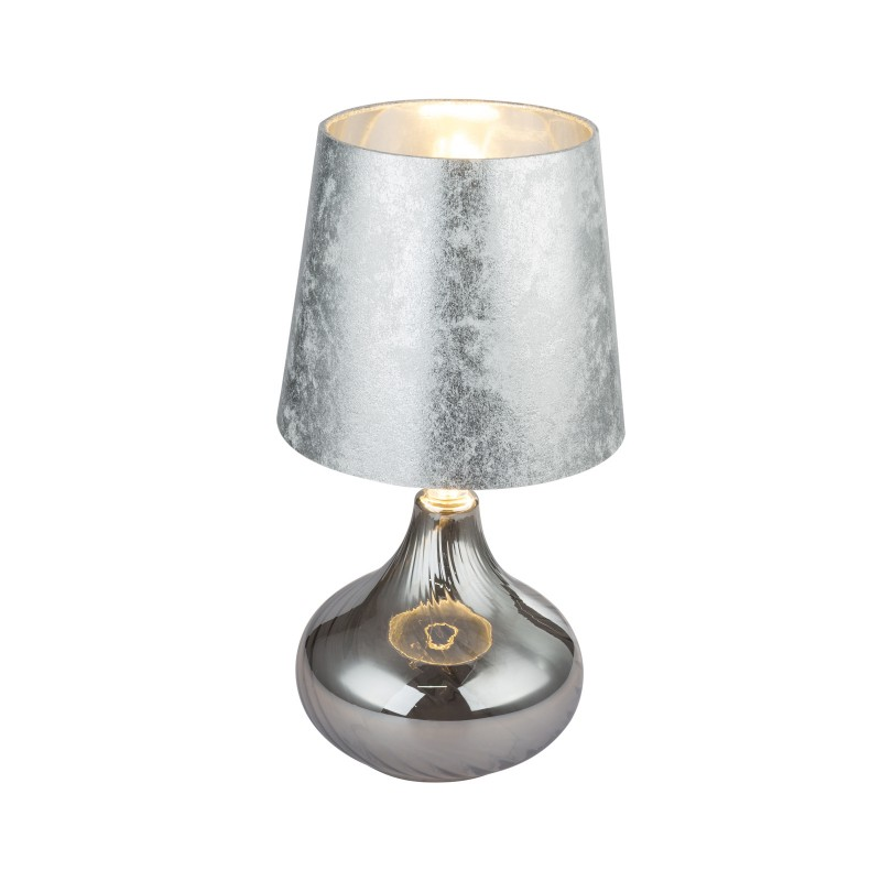 Veioza / Lampa de masa design modern JOHANNA 24000SS GL, Veioze, Lampi de masa, Corpuri de iluminat, lustre, aplice, veioze, lampadare, plafoniere. Mobilier si decoratiuni, oglinzi, scaune, fotolii. Oferte speciale iluminat interior si exterior. Livram in toata tara.  a