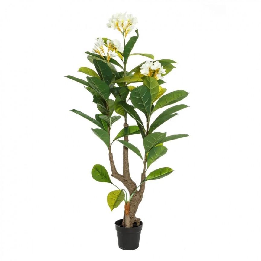 Planta artificiala decorativa Plumeria, H-165cm DZ-107410, Vaze, Ghivece decorative,  a