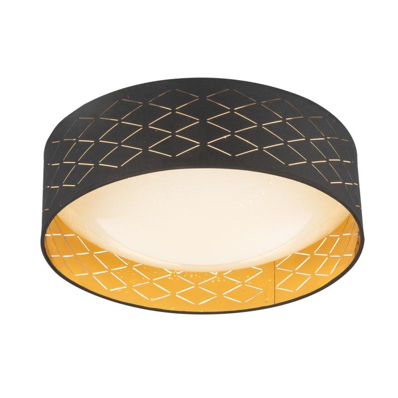 Plafoniera LED design modern Ø40cm CLARKE 15229D7 GL, Plafoniere LED, Spoturi LED, Corpuri de iluminat, lustre, aplice, veioze, lampadare, plafoniere. Mobilier si decoratiuni, oglinzi, scaune, fotolii. Oferte speciale iluminat interior si exterior. Livram in toata tara.  a