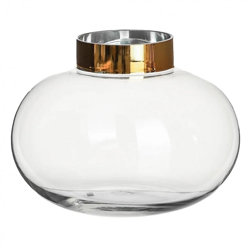 Vas decorativ, Vaza eleganta din sticla SX-108580, Vaze, Ghivece decorative, Corpuri de iluminat, lustre, aplice, veioze, lampadare, plafoniere. Mobilier si decoratiuni, oglinzi, scaune, fotolii. Oferte speciale iluminat interior si exterior. Livram in toata tara.  a