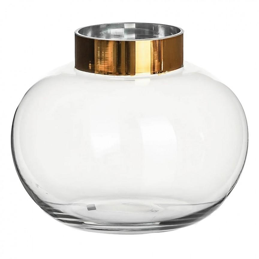Vas decorativ, Vaza eleganta din sticla SX-108579, Vaze, Ghivece decorative, Corpuri de iluminat, lustre, aplice, veioze, lampadare, plafoniere. Mobilier si decoratiuni, oglinzi, scaune, fotolii. Oferte speciale iluminat interior si exterior. Livram in toata tara.  a