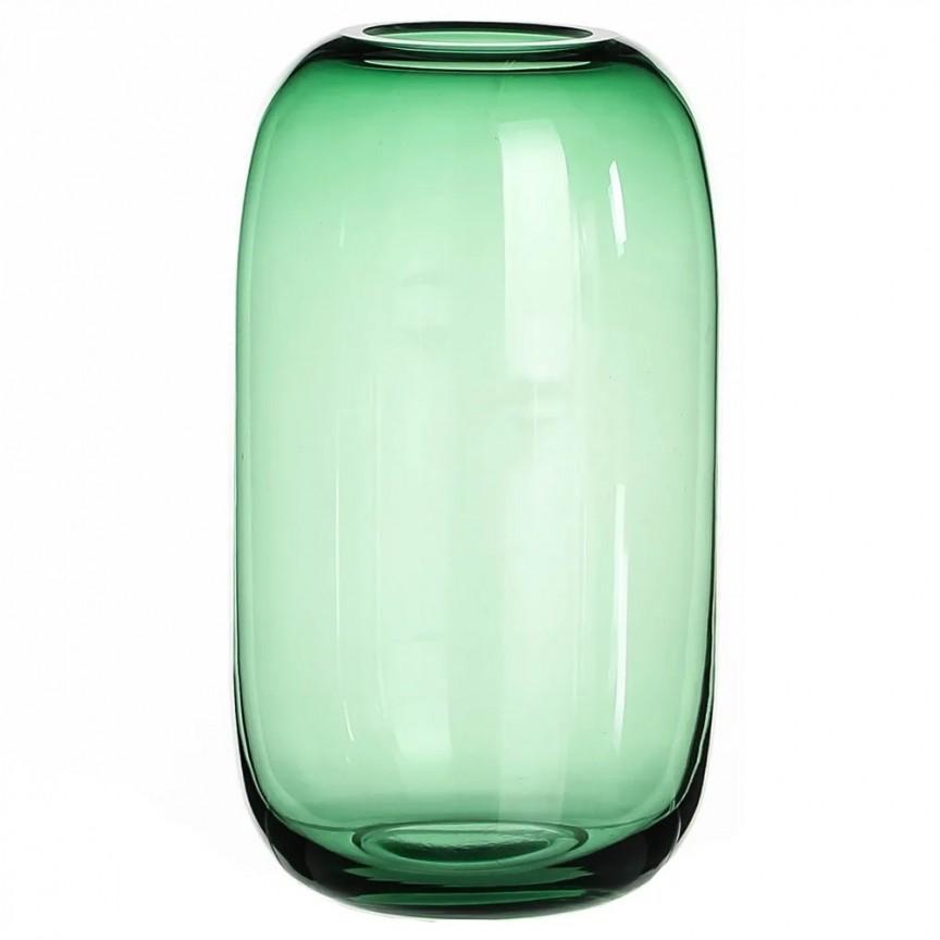 Vas decorativ, Vaza eleganta din sticla verde SX-108569, Vaze, Ghivece decorative, Corpuri de iluminat, lustre, aplice, veioze, lampadare, plafoniere. Mobilier si decoratiuni, oglinzi, scaune, fotolii. Oferte speciale iluminat interior si exterior. Livram in toata tara.  a