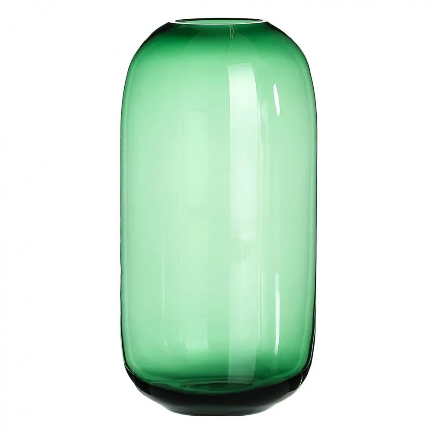 Vas decorativ, Vaza eleganta din sticla verde SX-108568, Vaze, Ghivece decorative, Corpuri de iluminat, lustre, aplice, veioze, lampadare, plafoniere. Mobilier si decoratiuni, oglinzi, scaune, fotolii. Oferte speciale iluminat interior si exterior. Livram in toata tara.  a
