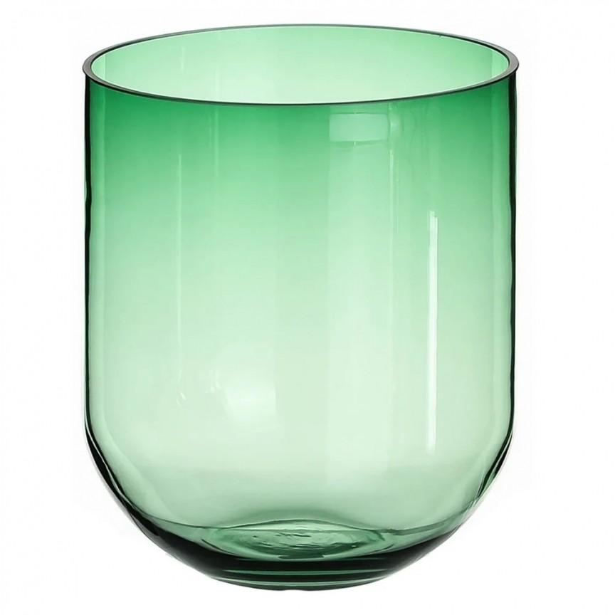 Vas din sticla verde, Suport pentru lumanare VELAS SX-108572, Vaze, Ghivece decorative, Corpuri de iluminat, lustre, aplice, veioze, lampadare, plafoniere. Mobilier si decoratiuni, oglinzi, scaune, fotolii. Oferte speciale iluminat interior si exterior. Livram in toata tara.  a