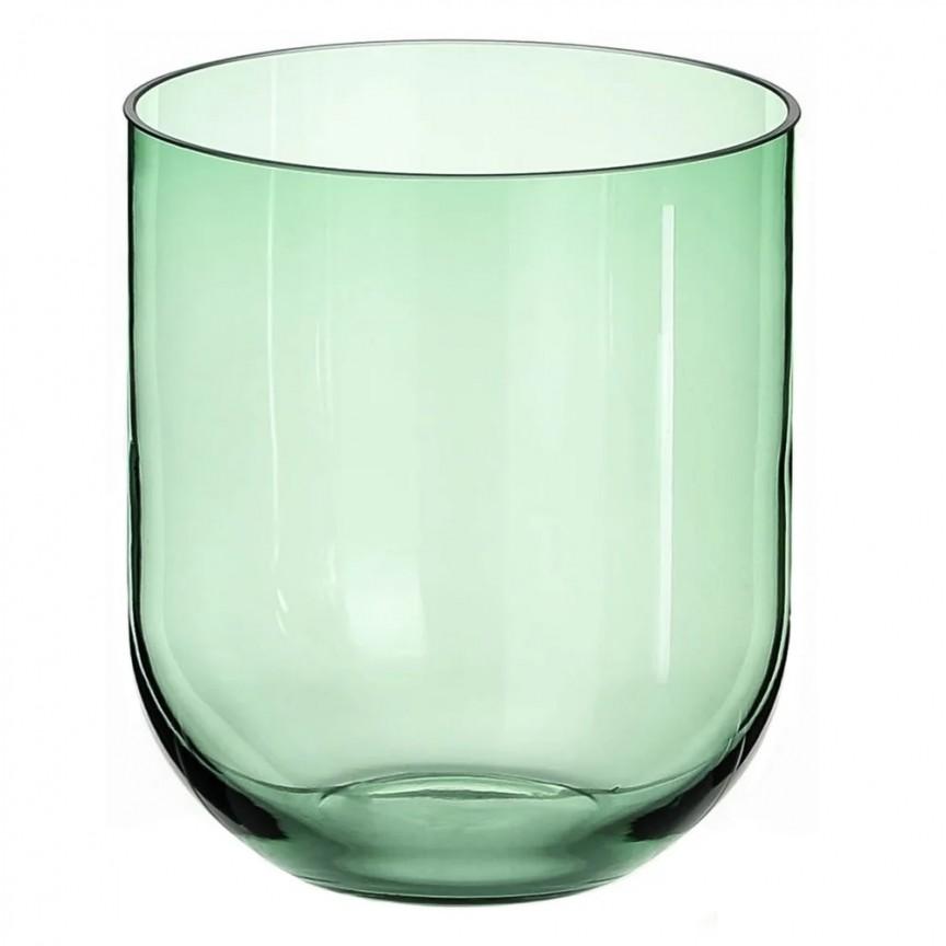 Vas din sticla verde, Suport pentru lumanare VELAS SX-108571, Vaze, Ghivece decorative,  a