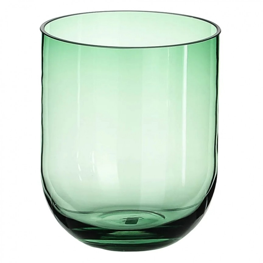 Vas din sticla verde, Suport pentru lumanare VELAS SX-108570, Vaze, Ghivece decorative,  a