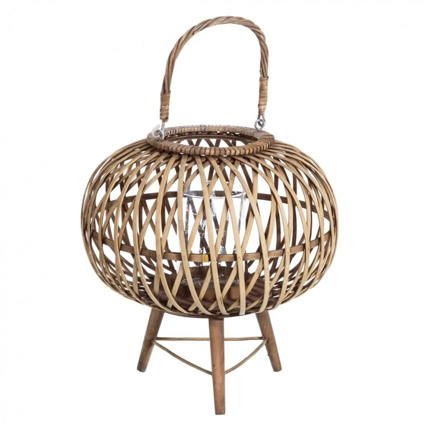 Suport lumanare din bambus natural SX-106048, Mobila si Decoratiuni,  a
