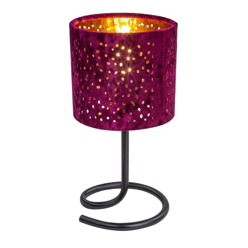 Veioza catifea rosie NORRO 24001RG GL, Veioze, Lampi de masa, Corpuri de iluminat, lustre, aplice, veioze, lampadare, plafoniere. Mobilier si decoratiuni, oglinzi, scaune, fotolii. Oferte speciale iluminat interior si exterior. Livram in toata tara.  a