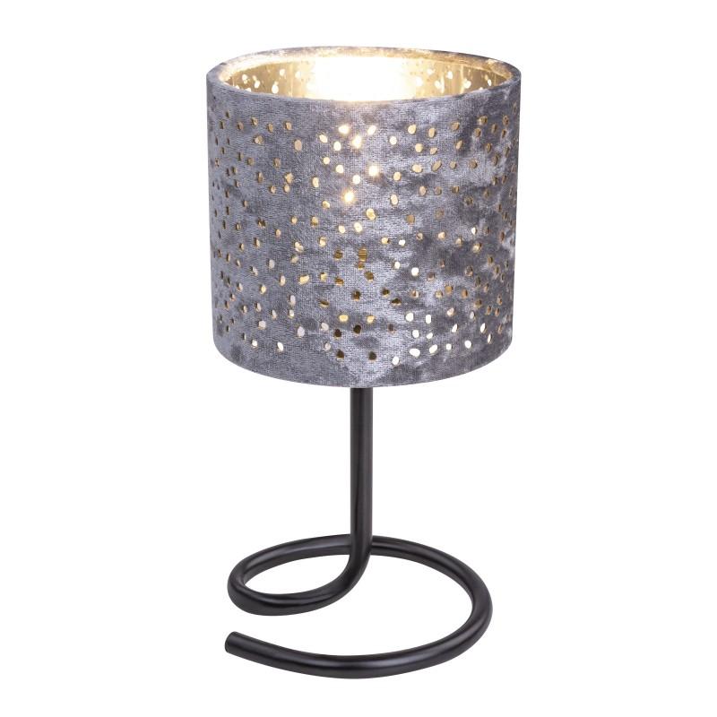 Veioza catifea argintie NORRO 24001SC GL, Veioze, Lampi de masa, Corpuri de iluminat, lustre, aplice, veioze, lampadare, plafoniere. Mobilier si decoratiuni, oglinzi, scaune, fotolii. Oferte speciale iluminat interior si exterior. Livram in toata tara.  a