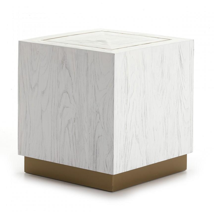 Masuta laterala design LUX Wood White 16035/00 TN, Mobila si Decoratiuni, Corpuri de iluminat, lustre, aplice, veioze, lampadare, plafoniere. Mobilier si decoratiuni, oglinzi, scaune, fotolii. Oferte speciale iluminat interior si exterior. Livram in toata tara.  a