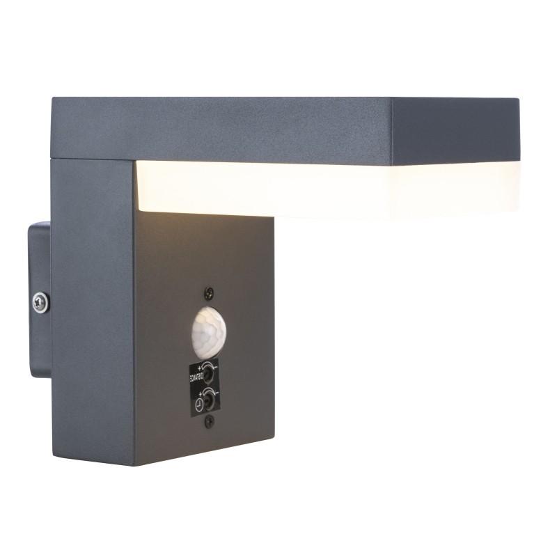 Aplica LED de exterior cu senzor de miscare IP44 OSKARI 34186WS GL, ILUMINAT EXTERIOR, Corpuri de iluminat, lustre, aplice, veioze, lampadare, plafoniere. Mobilier si decoratiuni, oglinzi, scaune, fotolii. Oferte speciale iluminat interior si exterior. Livram in toata tara.  a